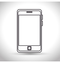 silhouette smartphone technology white background vector image vector image
