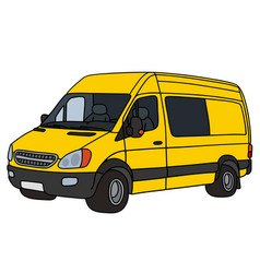 yellow delivery car vector image vector image