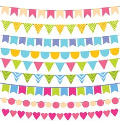 birthday party decoration vector image vector image