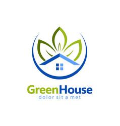 green house garden realty logo vector image