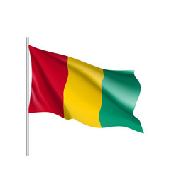guinea realistic flag vector image
