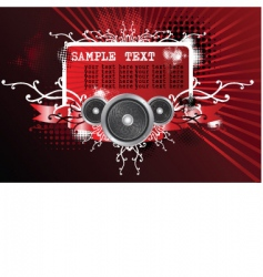 illustration on a musical theme vector image