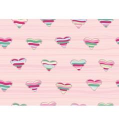 pink hearts seamless vector image