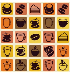 seamless pattern with tea and coffee cups vector image vector image