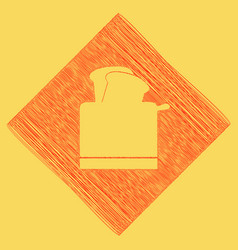 toaster simple sign red scribble icon vector image vector image