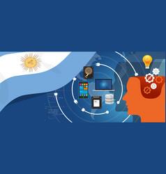 argentina it information technology digital vector image