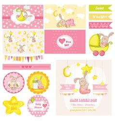 Baby shower bunny theme vector