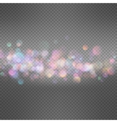 Lights on dark transparent background EPS 10 vector image vector image