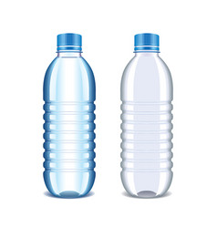 Plastic bottle for water isolated on white vector image