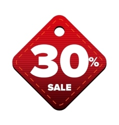 Sale thirty percent pricetag red vector image