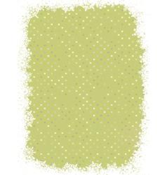 green polka dot design with snowflakes eps 8 vector image vector image