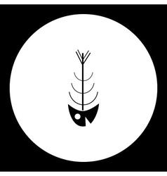 simple black fish bones skeleton icon eps10 vector image