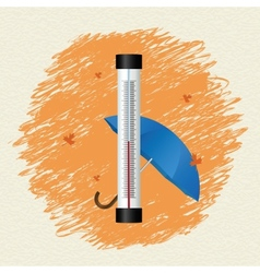 Thermometer by seasons Autumn vector image vector image