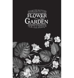 Vertical flower garden card vector image vector image