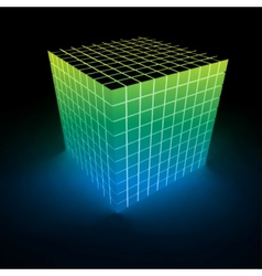 Abstract glowing cube vector image