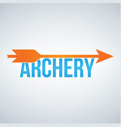 archery color logo design template isolated on vector image