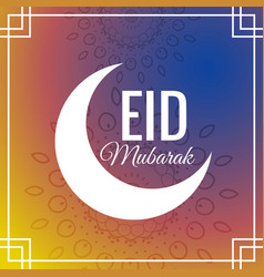 Awesome eid festival greeting background vector