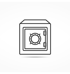 Bank Safe Line Icon vector image