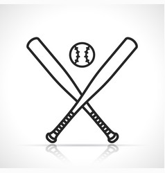 baseball or softball icon vector image