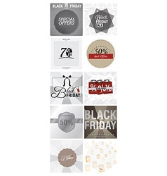Black Friday Backgrounds vector image