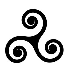 Breton and celtic symbol on white vector