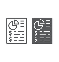 Budget planing line and glyph icon finance vector