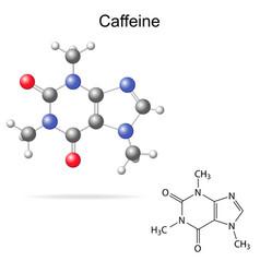 Caffeine molecule vector