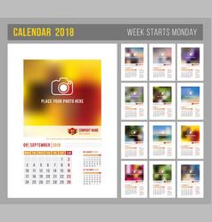 Calendar template 2018 vector