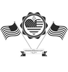 celebration in America vector image
