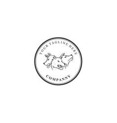 cerberus company logo guarding vector image