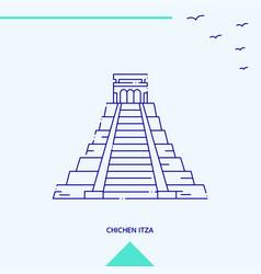 chichen itza skyline vector image
