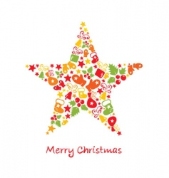 Christmas card star vector image