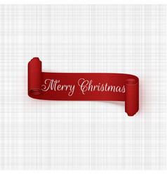 Christmas red scroll ribbon graphic element vector