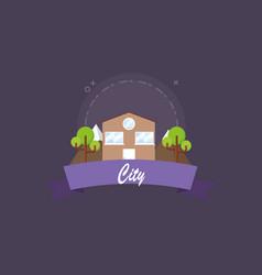 city emblem design vector image