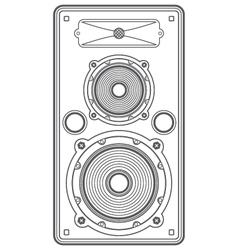 concert outline speaker vector image