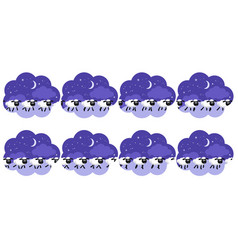 Counting sheep trotting the night back animation vector