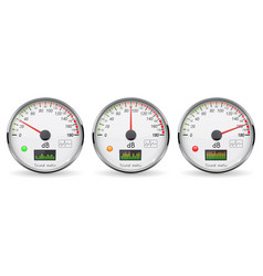 Decibel gauge set volume unit glass gauge with vector