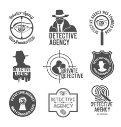 Detective label set vector