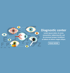 Diagnostic center banner horizontal concept vector