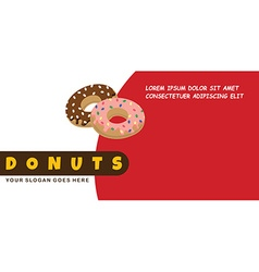 Donut food menu banner template vector