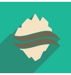 Flat web icon with long shadow map Arctic vector image