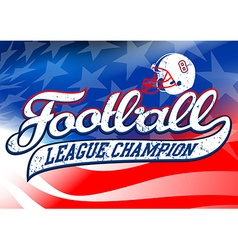 Football league champion on USA flag vector image