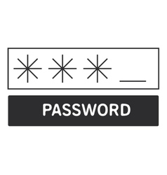 Four digit password icon vector
