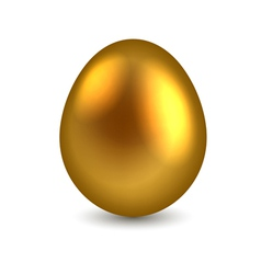 Golden egg isolated on white background vector image