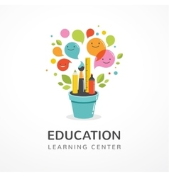 Growing idea - education creativity and science vector