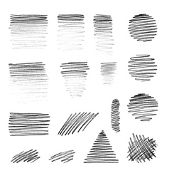 hand-draw shapes with pencil texture vector image