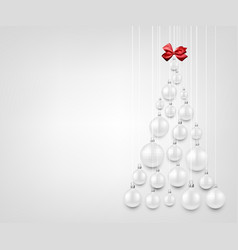 holiday background with white christmas tree vector image