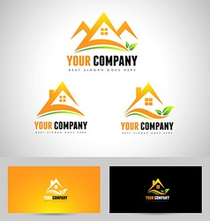 House Logo Concept Design vector image