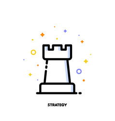 icon of rook chess piece for business strategy vector image