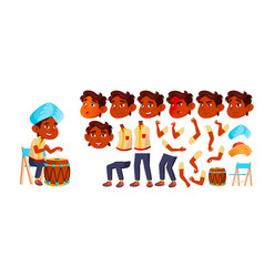 indian boy kindergarten kid animation vector image
